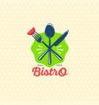 logo salad bar bistro restaurant logo vector image