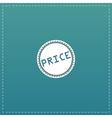 Price Icon Badge Label or Sticker vector image
