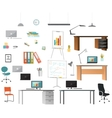 Set of office elements vector image