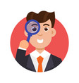 tax inspector icon flat style vector image