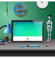 Training Development online education concept vector image