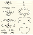 vintage decorative swirls vector image