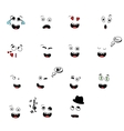set of fun emoticon smileys isolated on white vector image