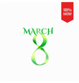 Eight March international Women Day greeting vector image