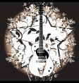 rock star guitar vector image vector image