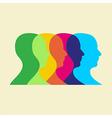 social interaction vector image vector image