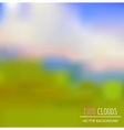 pink clowds background vector image vector image