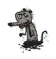 Dirty rat comic vector image