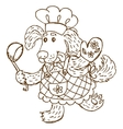 Dog chief-cooker vector image