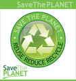save the planet sign vector image vector image