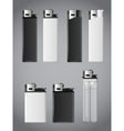 Lighters set vector image