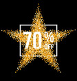 Golden star discount vector image