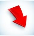 Big red arrow icon vector image