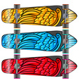 Colourful boards vector image