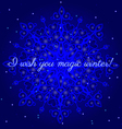 magic winter postcard vector image