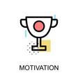 motivation icon with trophy on white background vector image