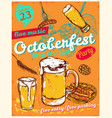 october fest poster vector image