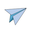 paper plane school creativity idea icon vector image