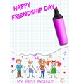Poster for International Friendship Day vector image