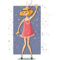 retro flapper party girl from the roaring 20s vector image