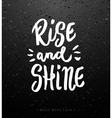 Rise and shine calligraphy vector image