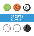 set flat icon ball sport vector image