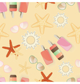 Starfish background pattern vector image