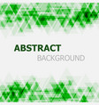 abstract green triangle overlapping background vector image vector image