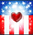 american heart patriotic background vector image vector image