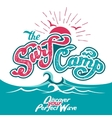 The Surf Camp hand lettering vector image