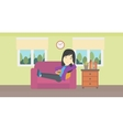 Woman lying on sofa vector image vector image