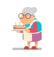 Bake complimentary cake Household Granny Old Lady vector image