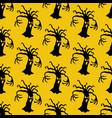 evil tree halloween pattern vector image