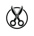 Simple scissors tailor work tool Sharp ins vector image