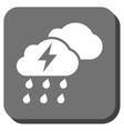 Thunderstorm Clouds Rounded Square Icon vector image