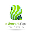 Abstract Volume Logo Colorful 3d Design Corporate vector image