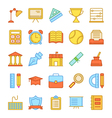 Education Icons 3 vector image