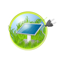 Solar Green Panel Logo vector image