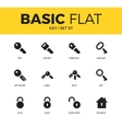 Basic set of key icons vector image vector image