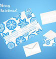 Christmas envelope set vector image vector image