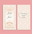 wedding invitation floral template vector image