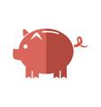 cartoon piggy money security bank icon vector image