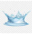 water splash with transparency realistic vector image vector image