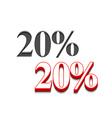 20 discount design vector image