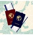 passports tickets vector image vector image