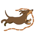 lucky dog with sausages vector image
