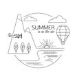 Summer is in the air Air travel and tourism vector image