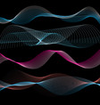 abstract linear waves vector image