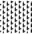 Bottle and glasse icon seamless pattern vector image