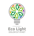 eco light bulb design colorful icon vector image